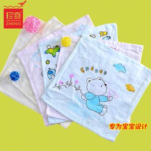 日本卡通纯棉纱布小毛巾方巾新生儿童婴儿宝宝擦脸柔软洗澡洗脸帕