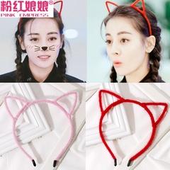猫耳朵发箍头饰韩国简约成人兔耳朵发卡头箍甜美淑女可爱卡子发饰