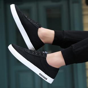 2018冬季男鞋子潮流男士潮鞋棉鞋帆布鞋小白布鞋板鞋