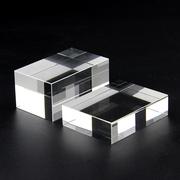 供应水晶方体白胚 水晶玻璃底座订做喷砂刻字3D激光内雕