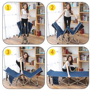 灵鹰折叠床单人午睡办公室午休睡椅家用成人简易便携行军床多功能