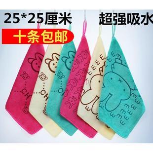 幼儿园夏小方巾非竹纤维纯棉成人儿童洗脸擦汗超吸水面巾毛巾批發