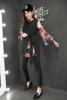 欧洲站2018欧货春季时尚花色雪纺长衫女士上衣洋气打底衫
