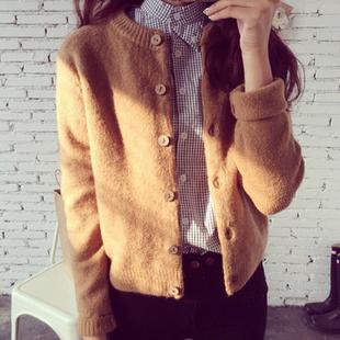 春装女装针织衫开衫宽松外搭毛衣秋冬女士短款上衣外套