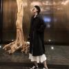 秋装女2018复古黑色宽松流行大衣中长款风衣气质学生外套