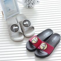 时尚厚底坡跟一字拖鞋女室外高跟凉拖鞋防滑沙滩鞋卡通2017夏女鞋