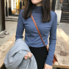 秋冬季高领打底衫女百搭加厚T恤加绒长袖堆堆领体恤上衣