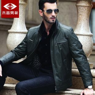 木笛男装中年商务夹克 男士外套男夹克衫春装男式jacket