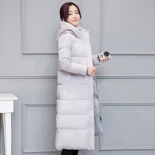 棉服女2018冬装外套棉衣中长款大码过膝羽绒棉袄加厚