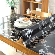 定制餐桌垫pvc软质玻璃桌布 防水 防油透明磨砂茶几垫免洗水晶垫
