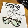 小清新素颜眼镜女韩国大框防辐射平光镜大脸方框眼镜框男配近视