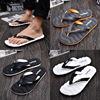 夏季人字拖鞋男士凉拖室外防滑外穿潮拖情侣沙滩时尚大码拖鞋