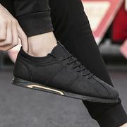 社会男鞋秋季小黑鞋男生运动鞋潮流复古板鞋阿甘鞋子潮鞋