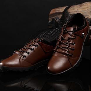 耐宾男士日常真皮驾车鞋流行男鞋头层牛皮豆豆鞋保暖秋冬季