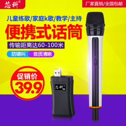 芯科 X-01 无线话筒户外音响家用唱歌音箱功放电脑K歌手持麦克风
