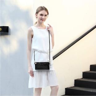 代灵女单肩零钱手机包时尚年轻PU皮拉链单肩手提背包