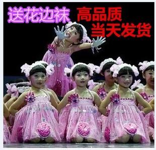 我有一双小小手服装演出服小荷风采舞蹈服儿童表演服饰幼儿舞蹈