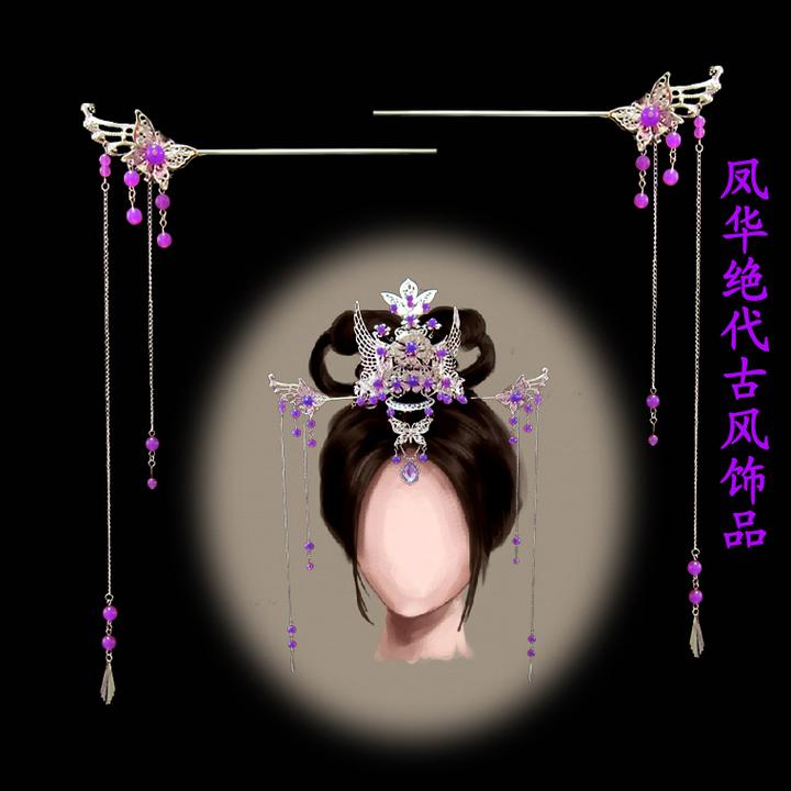 古代公主头饰簪子图片大全欣赏图片