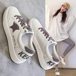 小白鞋女2018百搭网红女鞋运动加绒棉鞋平底板鞋冬季