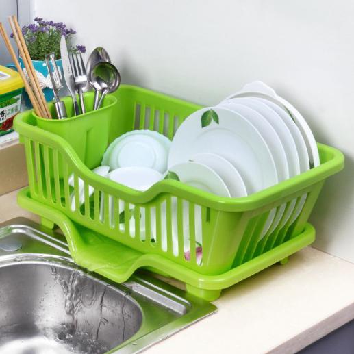 碗碟置物架碗碟塑料架厨房扣头v碗碟架沥水架扣头带水槽自动铜皮图片