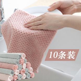 加厚抹布厨房家务清洁布基本不掉毛不沾油吸水洗碗巾擦桌子洗碗布