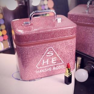 化妆包大容量小号便携韩国简约可爱少女收纳盒品大网红化妆箱手提