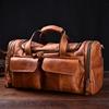 复古男士手提真皮行李袋超大容量牛皮健身旅行包短途出差旅游潮包