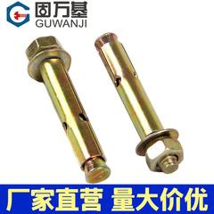 铁彩锌膨胀螺丝外膨胀螺栓 拉爆爆炸螺丝钉膨胀管M6M8M10M12M14