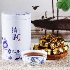 韵品香 云南普洱茶 熟茶 糯米香小金沱100g桶 迷你小沱茶 茶叶