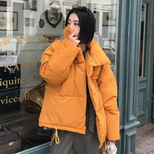 2018冬季外套chic棉袄ins面包羽绒棉服女短款oversize棉衣潮