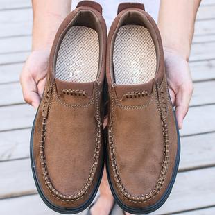 老北京布鞋春秋季男鞋透气软底男士鞋中老年父亲大码男款单鞋