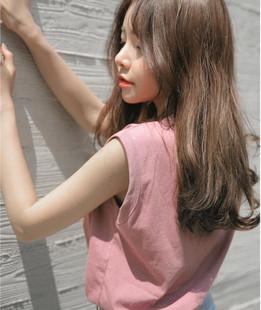 韩国ulzzang学院风纯棉背心女夏季百搭纯色无袖T恤打底上衣潮