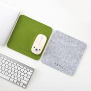 居家家毛毡鼠标垫小号加厚办公电脑桌垫家用桌面书桌游戏鼠标垫子