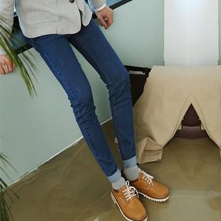秋季简约牛仔裤男小脚铅笔裤弹力深色男生显瘦长裤子