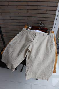 8色放心入 夏 男糖果色棉麻短裤 天然亚麻透气舒适五分裤
