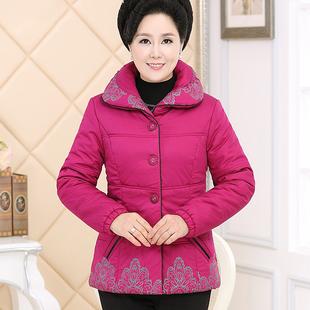 中老年女装秋棉衣40-50岁中年妈妈装大码加厚短款小棉衣冬装外套