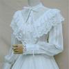 2018春秋洛丽塔复古宫廷优雅洋装衬衣甜美蕾丝雪纺灯笼袖长袖衬衫