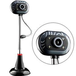 雨花石免驱高清台式电脑视频 带话筒夜视灯视频聊天主播摄像头