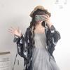 防晒衣夏季日式原宿风长袖可爱薄款日系开衫雪纺和服外套女学生潮
