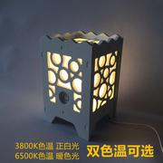 小夜灯LED床头灯学生宿舍台灯PVC雕花雕刻灯创意台灯触摸款