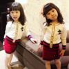 女童套装2018春秋儿童时尚洋气宝宝针织开衫两件套短裙潮