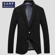 西服上衣男青年毛呢保暖外套纯商务男士西装单件反季