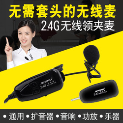 2.4G无线领夹式麦克风二胡乐器用拾音胸麦音响单反话筒扩音器耳麦