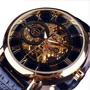 牌名表5折超薄小表盘双面镂空夜光陀飞轮复古机械表男士手表