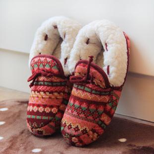 冬加厚羊羔绒包跟棉鞋软底女家居地板保暖月子鞋棉拖鞋室内防滑
