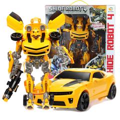 变形拼装玩具 超变战神变形金刚大黄蜂擎天柱机器人汽车手动拼装