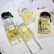 简约清新便携韩国版简约可爱马克杯创意男女学生玻璃杯随手水杯子