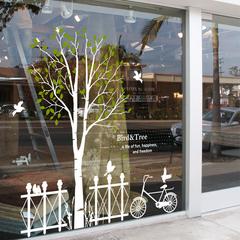 爱情树墙贴 咖啡馆甜品奶茶店服装店大型橱窗贴 沙发客厅背景墙帖