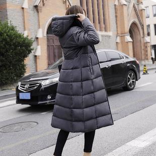 冬天棉衣女中长款加厚过膝2018潮显瘦棉服大码200斤