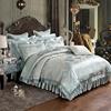 欧式贡缎提花夹棉床裙四件套纯棉加厚床笠式床罩款床套全棉1.8m床